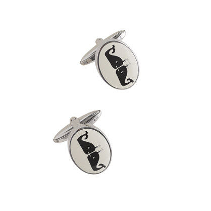 Kissing whales cuff links