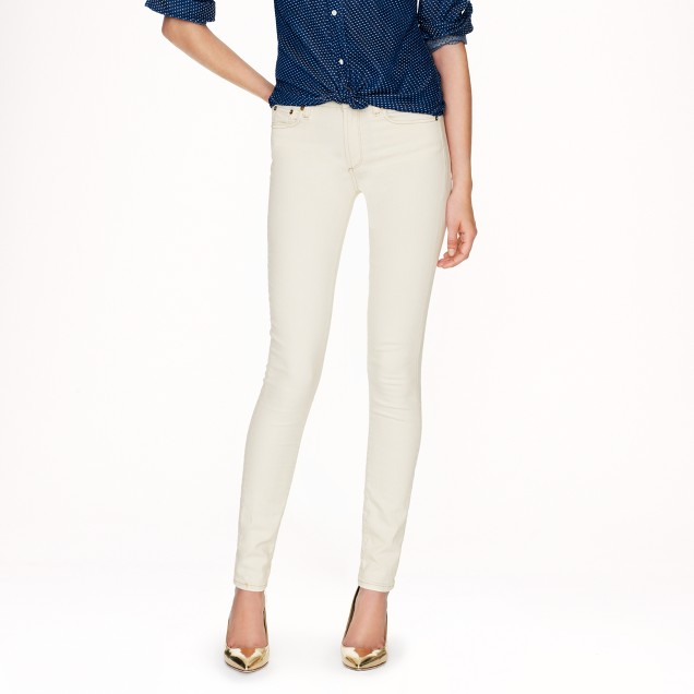 Tall midrise toothpick jean in Cone Denim® in ecru
