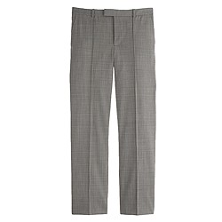Eaton boy trouser in glen plaid wool