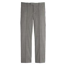Eaton boy trouser in glen plaid wool