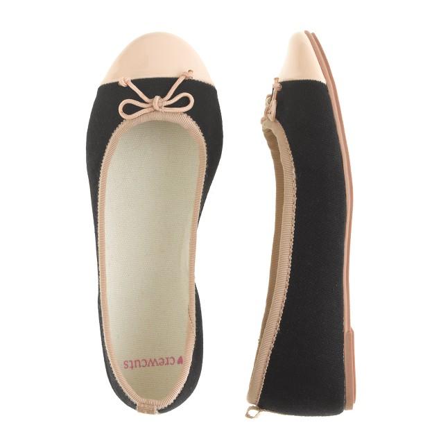 Girls' classic cap-toe ballet flats