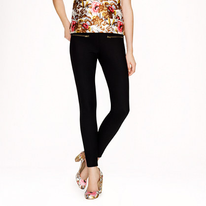 Minnie pant in bi-stretch wool with zippers