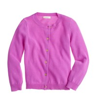 Girls' garment-dyed Caroline cardigan sweater