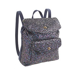 Girls' glitter backpack