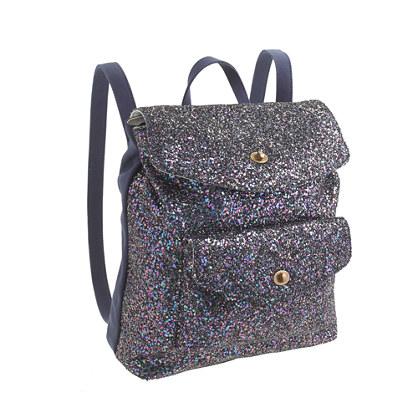 Girls' glitter backpack