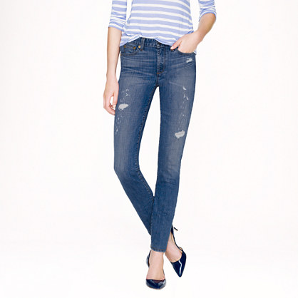 Midrise toothpick jean in Cone Denim® in Charlevoix wash