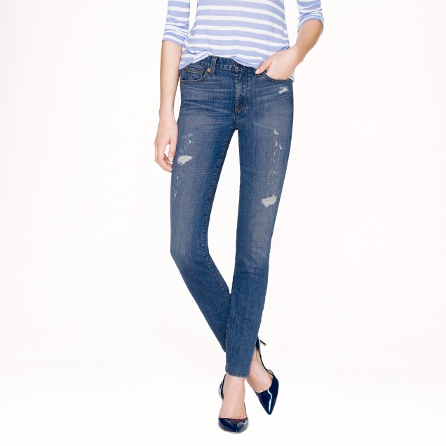 Tall midrise toothpick jean in Cone Denim® in Charlevoix wash
