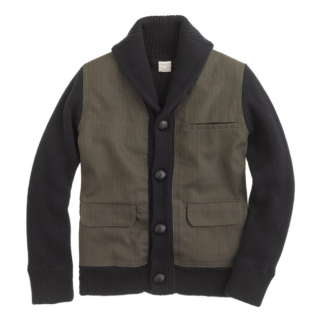 Boys' utility sweater-jacket