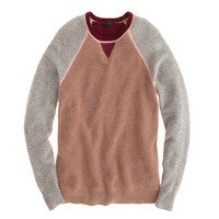 Collection cashmere colorblock waffle sweater