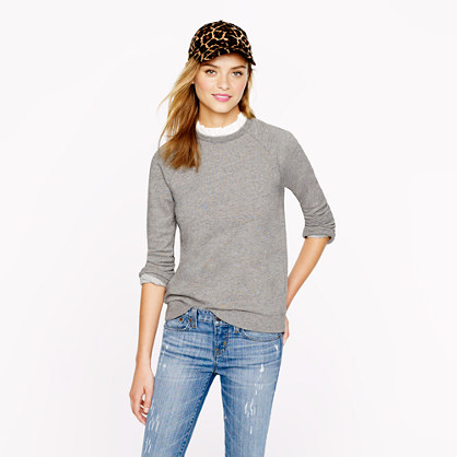 Ruffle-collar sweatshirt in grey