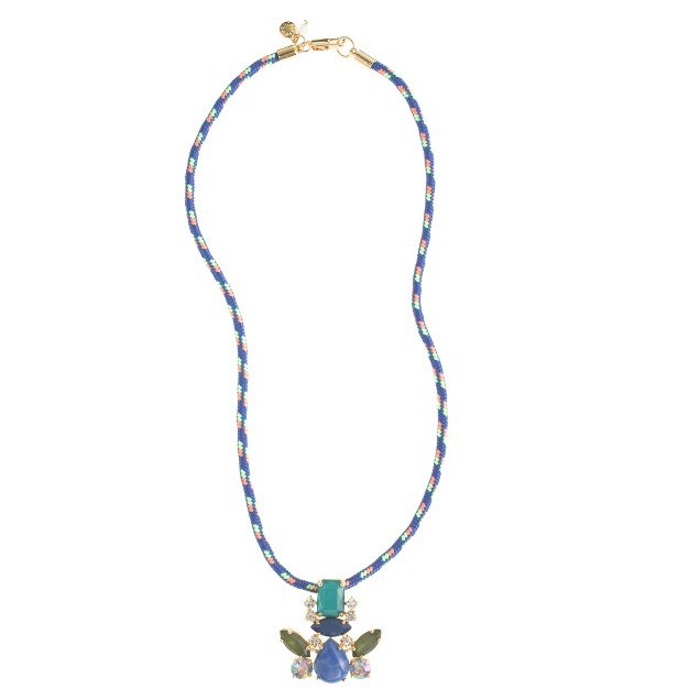 Girls' corded pendant necklace