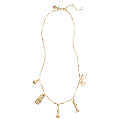 Girls' NYC charm necklace