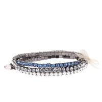 Girls' jeweled elastic bracelet three-pack