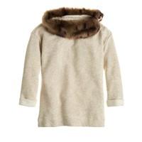Girls' furry-collar sweatshirt