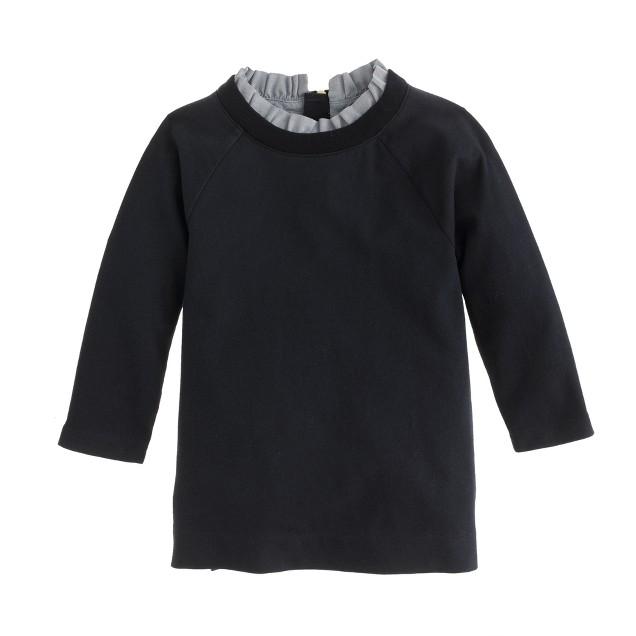 Girls' ruffle-collar tunic
