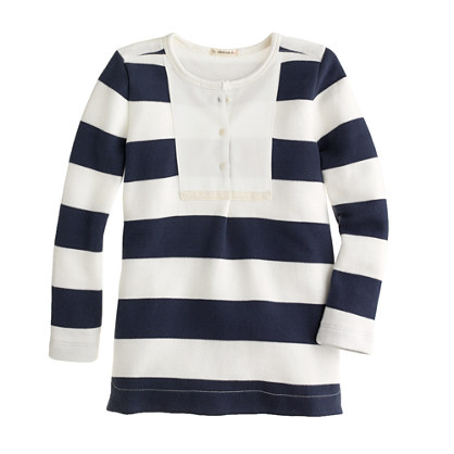 Girls' fleece tunic in stripe