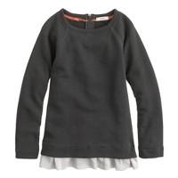 Girls' ruffle raglan sweatshirt