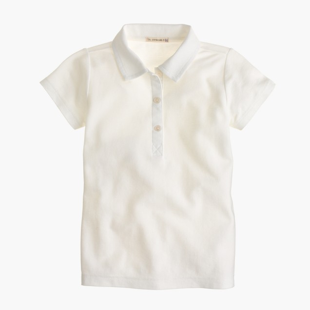 Girls' piqué polo shirt