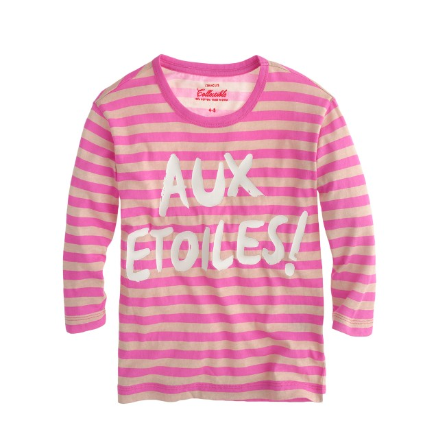 Girls' glow-in-the-dark aux étoiles tee