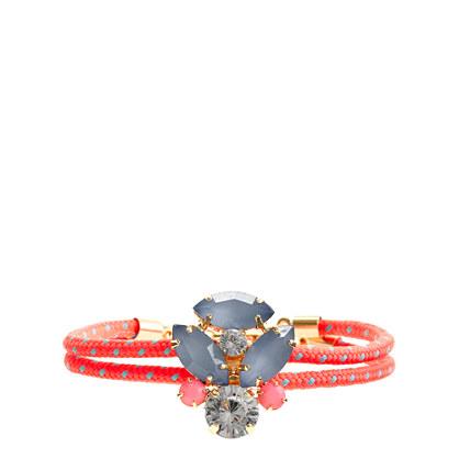 Girls' corded pendant bracelet