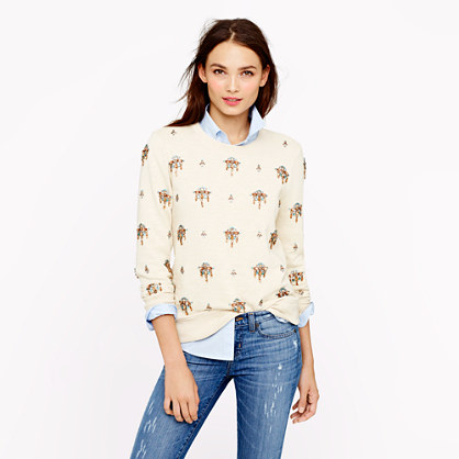 Jeweled chandelier sweatshirt