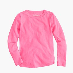 Girls' supersoft long-sleeve T-shirt