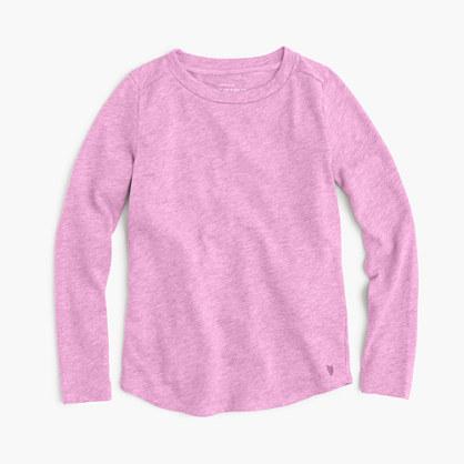 Girls' supersoft long-sleeve T-shirt