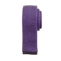 Wool knit tie in classic purple