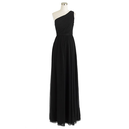 Petite Kylie long dress in silk chiffon
