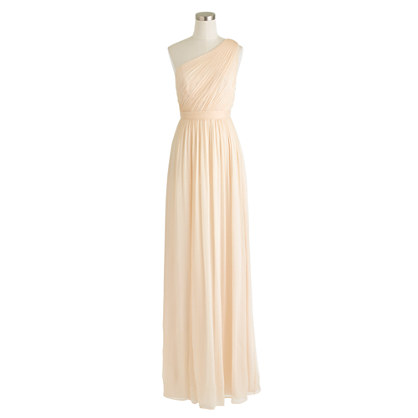 Kylie long dress in silk chiffon