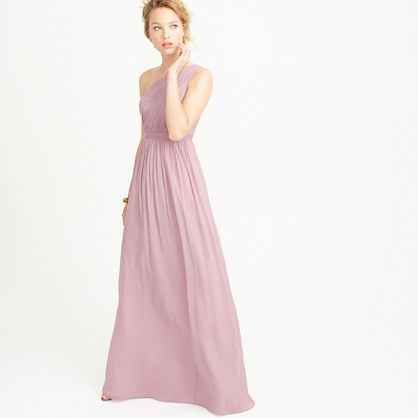 Petite Kylie long dress in silk chiffon