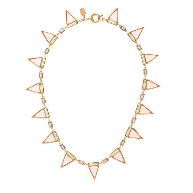Jennifer Meyer for J.Crew Sarah tricolor triangle necklace