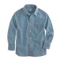 Boys' Secret Wash shirt in mini-gingham