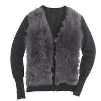 Collection shearling cardigan sweater