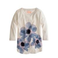 Girls' floral sequin tee