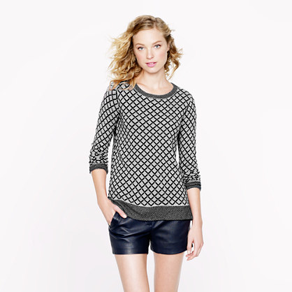 Collection cashmere diamond sweater