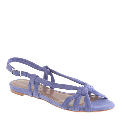 Tabitha Simmons® for J.Crew Maggie Mott sandals in suede