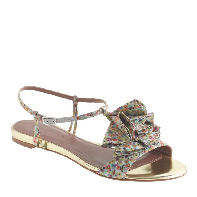 Tabitha Simmons® for J.Crew Daisy Willow sandals in yellow