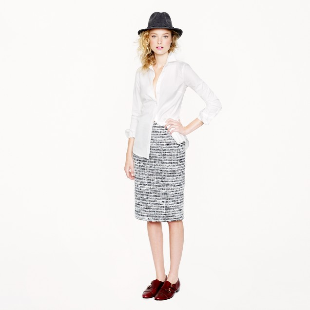 Collection no. 2 pencil skirt in icicle tweed