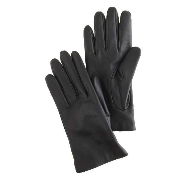 Cashmere-lined smartphone leather gloves