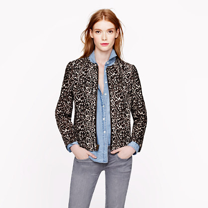 Collection leopard calf hair jacket