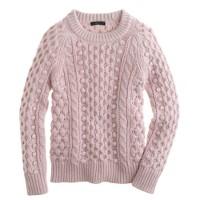 Collection silk-cashmere handknit popcorn sweater