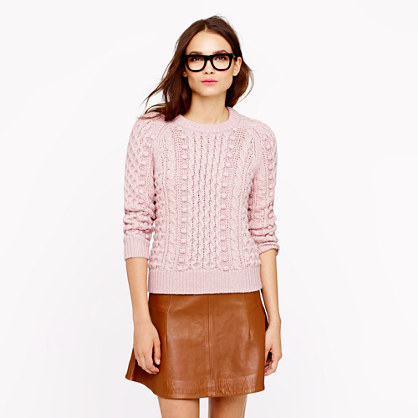 Collection silk-cashmere handknit popcorn sweater