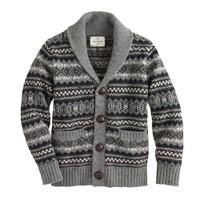Boys' Hartford® Fair Isle shawl cardigan