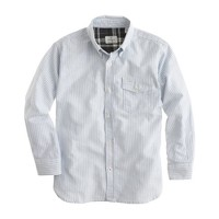 Boys' Hartford® oxford shirt in vertical stripe