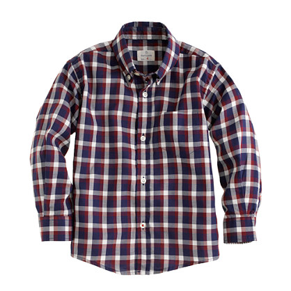 Boys' Hartford® shirt in mixed check