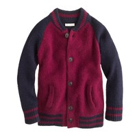 Boys' Hartford® teddy varsity cardigan