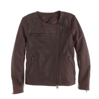 Girls' Hartford® beatle leather jacket