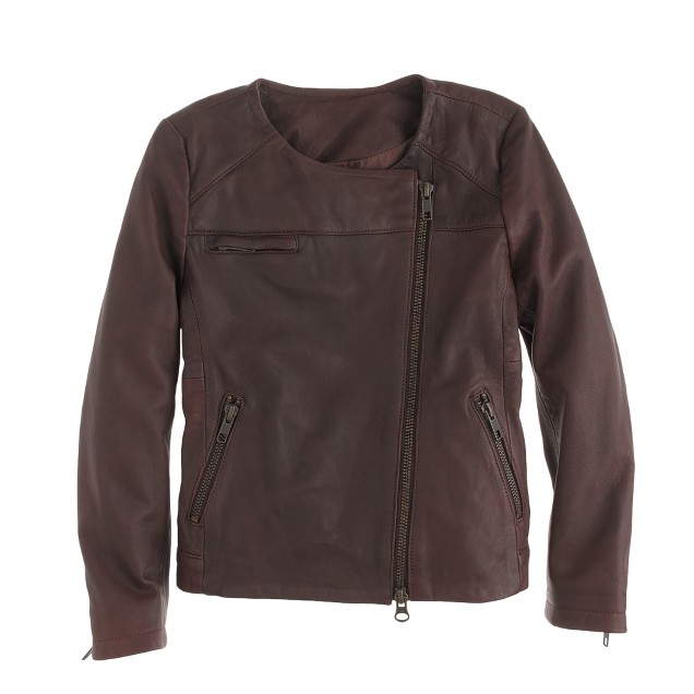 Girls' Hartford® beatle leather jacket