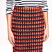 Collection pencil skirt in neon orange tweed